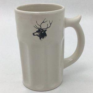 Rae Dunn | Ceramic Mug | White | Deer